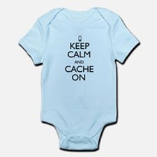 Keep Calm and Cache On Infant Bodysuit