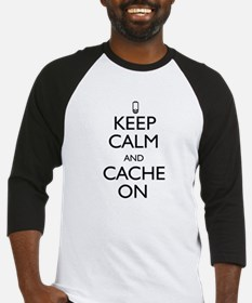 Keep Calm and Cache On Baseball Jersey