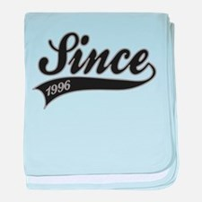 Since 1996 - Birthday baby blanket