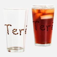 Teri Coffee Beans Drinking Glass
