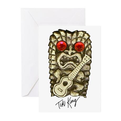 Ukulele Playing Tiki Greeting Cards (Pk of 10)