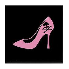 Evil Pink High Heel Tile Coaster