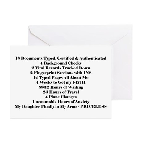PRICELESS DAUGHTER Greeting Cards (Pk of 10)
