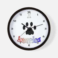 I *paw* America Wall Clock
