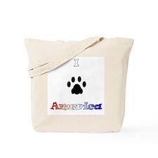 I *paw* America Tote Bag