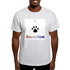 I *paw* America Ash Grey T-Shirt