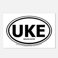 Unique Ukalele Postcards (Package of 8)