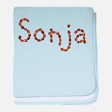 Sonja Coffee Beans baby blanket