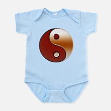Bronzed Yin-Yang Symbol Infant Bodysuit