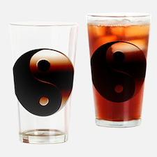 Metallic Yin-Yang Symbol Drinking Glass