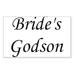 Bride's Godson. Rectangle Decal