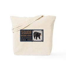 Sequoia Black Bear Badge Tote Bag