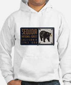 Sequoia Black Bear Badge Hoodie Sweatshirt