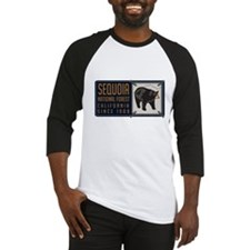 Sequoia Black Bear Badge Baseball Jersey