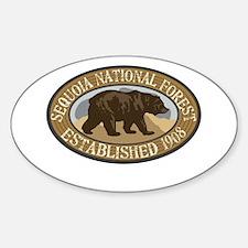 Sequoia Brown Bear Badge Decal