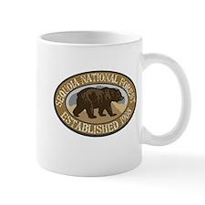 Sequoia Brown Bear Badge Mug