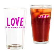 Super Power: Love Drinking Glass