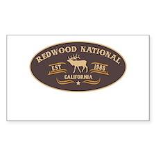Redwood Belt Buckle Badge Decal