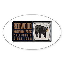 Redwood Black Bear Badge Decal