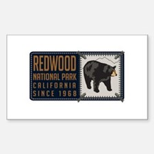 Redwood Black Bear Badge Decal