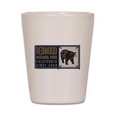 Redwood Black Bear Badge Shot Glass