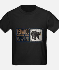 Redwood Black Bear Badge T