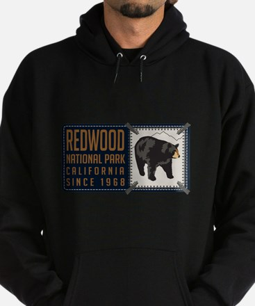 Redwood Black Bear Badge Hoodie (dark)