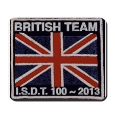 British Team ISDT badge replica 2013 Mousepad