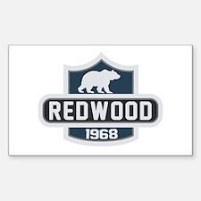 Redwood Nature Badge Sticker (Rectangle)