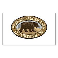 Redwood Brown Bear Badge Decal