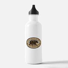 Redwood Brown Bear Badge Water Bottle