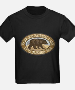 Redwood Brown Bear Badge T