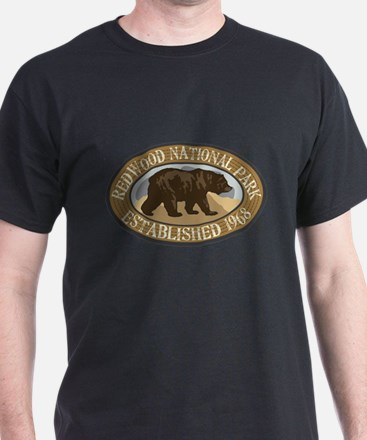Redwood Brown Bear Badge T-Shirt