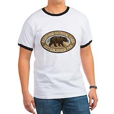 Redwood Brown Bear Badge T
