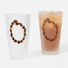 O Coffee Beans Drinking Glass
