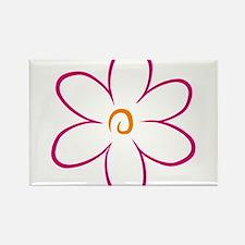 flower Rectangle Magnet
