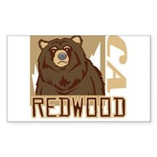 Redwood Grumpy Grizzly Decal