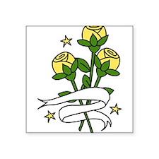 "Texas Roses Square Sticker 3"" x 3"""