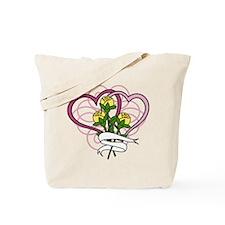 Hearts And Roses Tote Bag