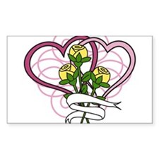 Hearts And Roses Decal