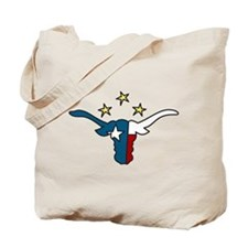 Long Horn Bull Tote Bag