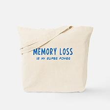 Super Power: Memory Loss Tote Bag