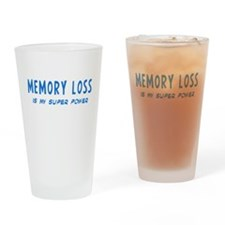 Super Power: Memory Loss Drinking Glass