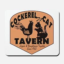 Cockerel N Cat Tavern Mousepad