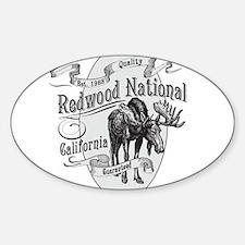 Redwood Vintage Moose Decal