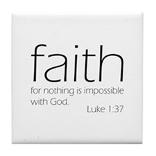 faith Tile Coaster