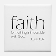 faith Tile Coaster