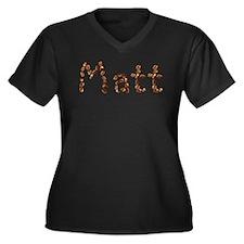 Matt Coffee Beans Women's Plus Size V-Neck Dark T-