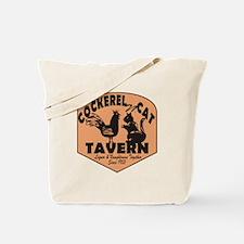 Cockerel N Cat Tavern Tote Bag