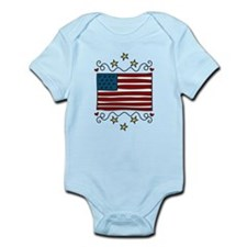 American Flag Infant Bodysuit